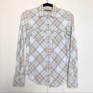 [liz claiborne] western style flannel button down